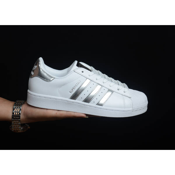 Adidas Superstar Silver/White