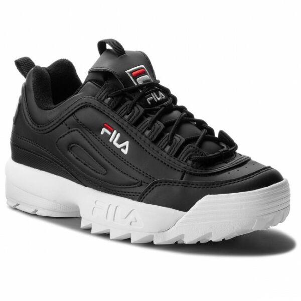 Fila Disruptor II Low Black Leather