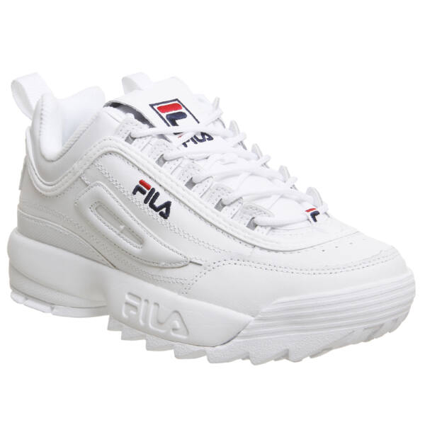 Fila Disruptor II Low White Leather